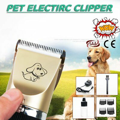 Electric Pet Hair Clipper Comb Set Cat Dog Animal Trimmer Grooming Cordless AU