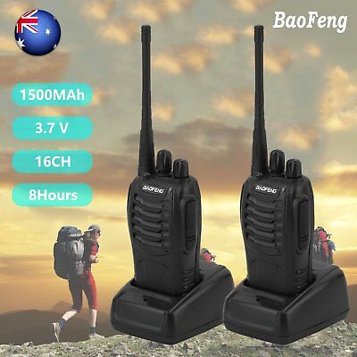 2x Baofeng BF-888S Ham Radio 2-Way UHF 400-470MHZ Walkie Talkie Long Range NSW A