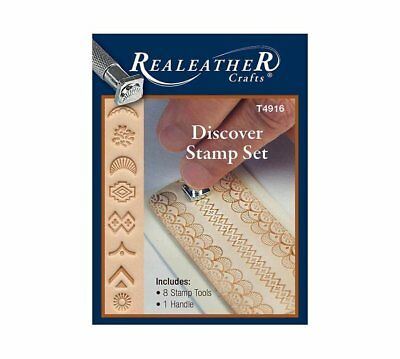 Realeather Crafts Leathercraft Discover Stamp Set T4916 8 Stamps