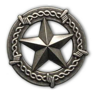 """Texas Star Concho Old Silver Barbed Wire 1"""" (25mm)"""