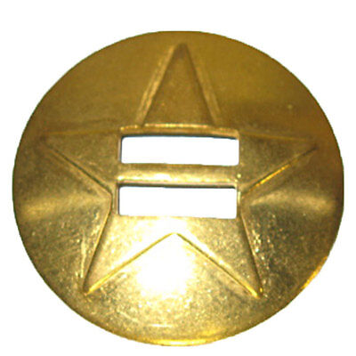 """Star Slotted Concho Solid Brass 1.5"""""""