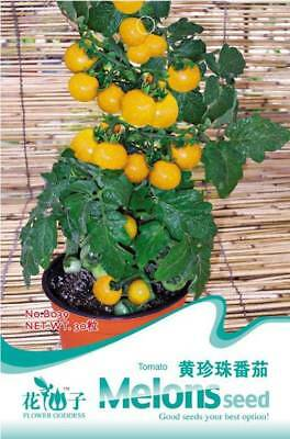 Original Package 30 Tomato Seeds Yellow Small Cherry Tomato Vegetable Fruit B039