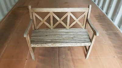 Stupendous Wooden Garden Bench Child Size 2 Seater Great For Pretend Short Links Chair Design For Home Short Linksinfo