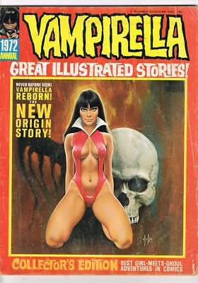 Vampirella Annual 1972 Gonzalez Origin Adams grade 3.0 scarce book !!