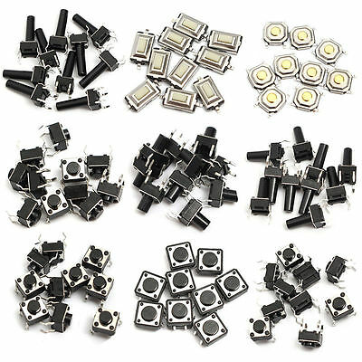 140X14types Durable Momentary Tactile Push Button Tact Switch SMD Assortment Kit
