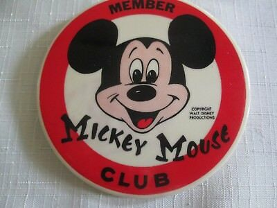 "Walt Disney World**member  Mickey Mouse Club*pin**3 1/2"" Long And Wide*very Rare"