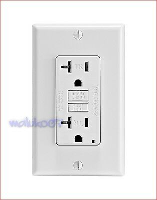 Leviton Self Test Gfci Outlet Plate 20A-125V Gfnt2-W White New