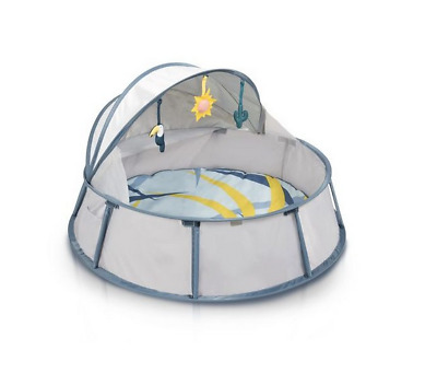 New Babymoov babyni travel cot in tropical with anti-uv coating & mosquito net