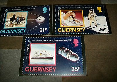 Guernsey Europa 1991 Stamp Advertising Boards.space Theme Sputnik Moon Walk  (3)