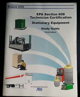 EPA SECTION 608 Technician Certification Stationary Equipment Study ...
