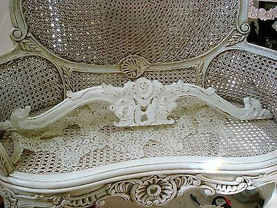 Shabby Cherubs Angels French Style Chic Pediment *hang Over A Mirror Or Door*