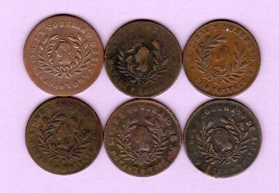 Sinaloa 1/4 real copper, 1859, 1862, 1863, 1864, 1865, 1866, Mexican state
