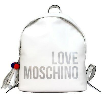 a2c26cd916f Woman backpack LOVE MOSCHINO rucksack white with details New  JC4312PP05KQ0100