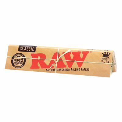 3x Packs Raw Classic King Size Slim ( 32 Leaves / Papers Each Pack ) Rolling