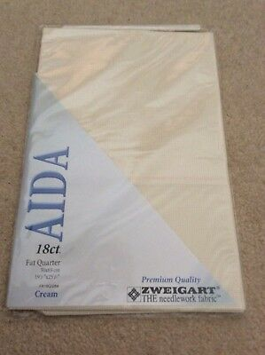 Zweigart Aida Fabric 18 ct Fat Quarter (50x 65cm) Cream