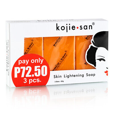 Kojie San Skin Lightening Bleaching Anti-Acne Kojic Acid Soap 3 X 65g= 195g