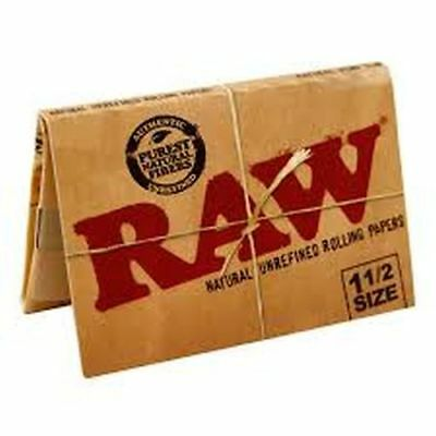 25x Pack RAW Classic 1.5 (33 Leaves Papers Per Pack) Cigarette Rolling FULL BOX
