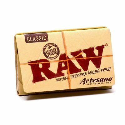 3x Packs Raw Classic Artesano 1.25  ( 50 Leaves / Papers Each Pack ) Rolling
