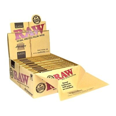 1x Pack Raw Classic Artesano King Size Slim  ( 32 Leaves / Papers Each Pack )