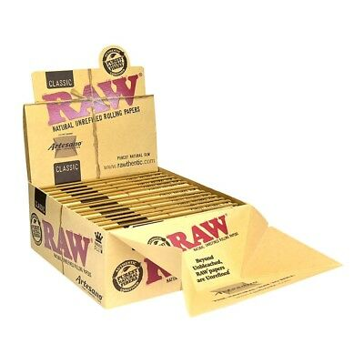 3x Packs Raw Classic Artesano King Size Slim  ( 32 Leaves / Papers Each Pack )