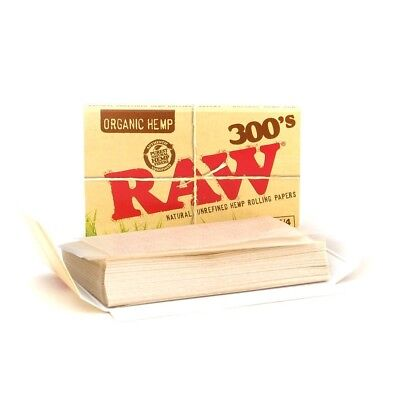 5x Packs Raw Organic 300  ( 300 Leaves / Papers Each Pack )  Rolling Paper 1.25