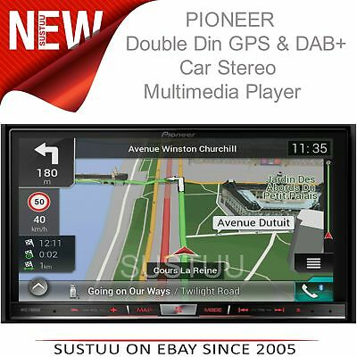 "Pioneer 2DIN 7"" GPS Satnav + DAB Stereo│Apple Car Play-Android Auto│Live Traffic"