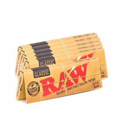 3x Packs Raw Classic 1.25 ( 50 Leaves / Papers Each Pack ) Natural Rolling Paper