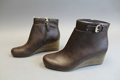 098da536e2d6 DR. SCHOLL S WOMEN S Daina Cool Fit Wedge Ankle Boots AB4 Brown Size 8M -   39.99