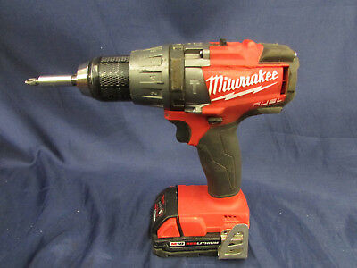 "Milwaukee 1/2"" Hammer Drill Driver W/Battery 2.0 AH Pack (No Charger)"
