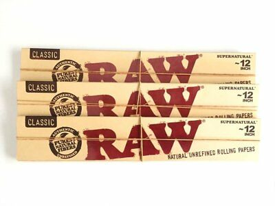 3x Packs Raw Classic 12 Inch Supernatural Paper ( 20 Leaves Papers Each Pack )