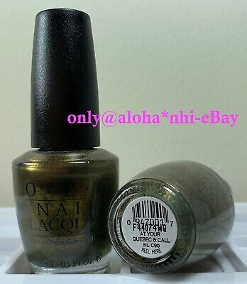 OPI Nail Polish Lacquer At Your Quebec & Call 0.5 oz = 15ml  NL C90