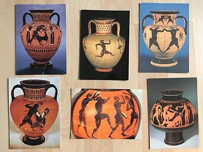 Postcards Of Greek Vases At The British Museum 250 Picclick Uk