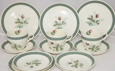 Vintage Crown Ducal Gay Meadow - Cups, Saucers & Side Plates. FREE UK POST