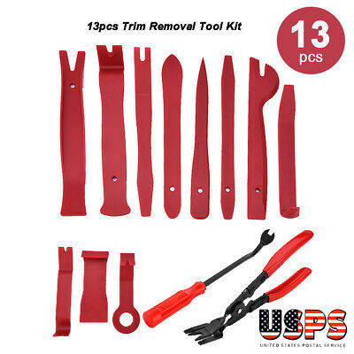 13Pcs Car Upholstery Tools Trim Removal Set & Clip Pliers and Fastener Removers