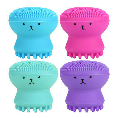 Lovely Octopus Silicone Facial Cleansing Brush Face Care Washing Massage Tool
