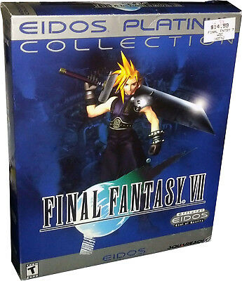 Final Fantasy 7 VII Platinum Edition PC VINTAGE 1998 RARE Collectible!!