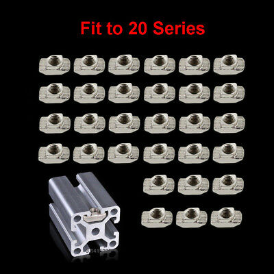 M3 M4 M5 Drop in Tee T-nuts 2020 T-slot Aluminium Profile Extrusion F 3D Printer