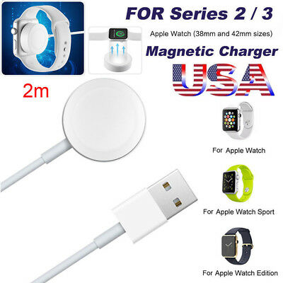 US Magnetic Charger Charging Cable For Apple Watch Edition iWatch 38mm&42mm (2m)