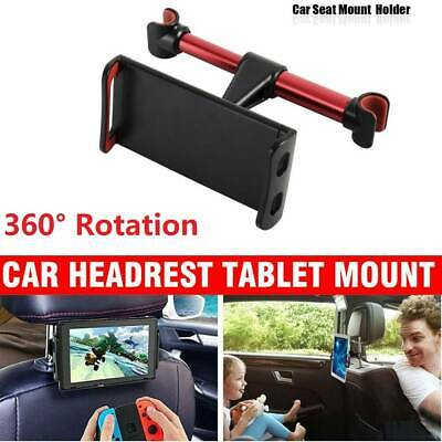 "2x 360°Car Seat Back Headrest Mount Holder 4-11"" Tablet iPad Mini GPS Bracket"