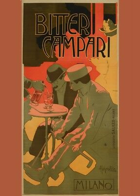 Bitter Campari, Italy, 1910, Adolfo Hohenstein, Beers, Wines and Spirits Poster