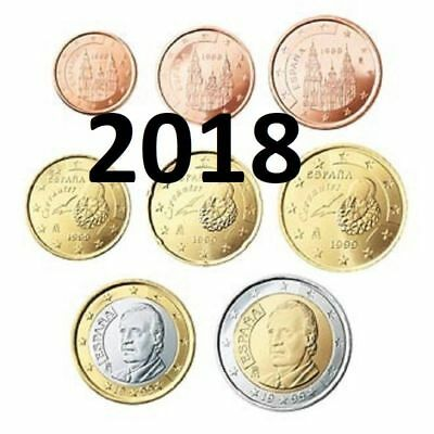 SPAIN kMS 2018 EURO 1cent-2€  UNCIRCULATED
