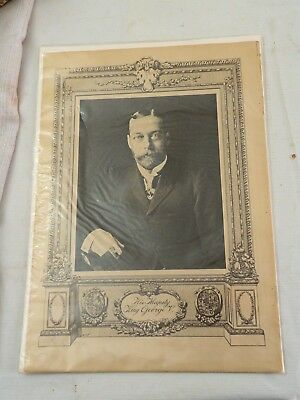 """2 Prints, 16"""" by 11.5"""", of King George V and Queen Mary ca. 1915, SEALED"""