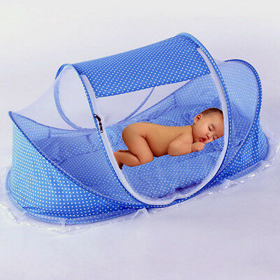 Baby Infant Portable Foldable Travel Bed Crib Canopy Mosquito Net Tent New