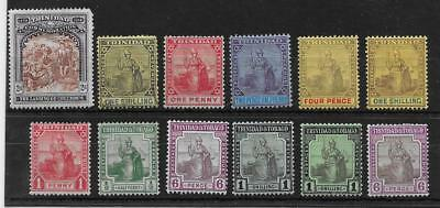 Trinidad & Tobago  Selection Of Mounted (Hinged) Mint 1898/1921  Mainly Fine