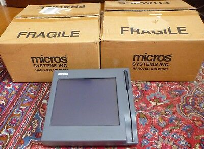 Set of 3 Micros Workstation 3 Hospitality Terminals Model: 400412
