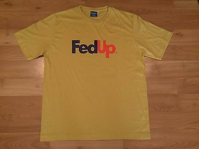 2005 Fed Up Fedex T Shirt Mens Xl Spoofs Tan Purple Orange Field Redskins