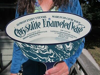 Vintage Original 1989 Crysolite Enameled Ware Graniteware D.s. Convention Sign