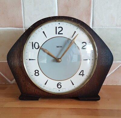 Antique Smith's clock with two tone dial