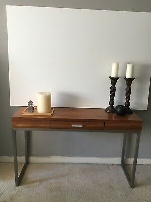 DWELL WOODEN console tabledesk with drawer and metal legs 5000