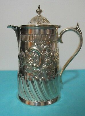 Ornate Walker and Hall Silverplate Water Pitcher